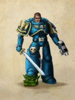Warhammer 40k Space Marine by introvert13