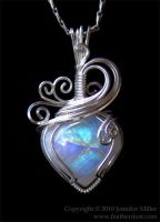 Glowing CrystalHeart Moonstone by Nambroth