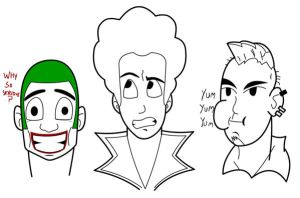 Faces-Expression practice 01 by creepyboy