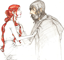 sandor/sansa by hedgehog-in-snow