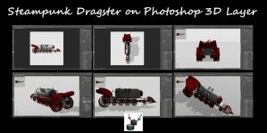 Steampunk Dragster on Photoshop 3D Layer by ArthurRamsey