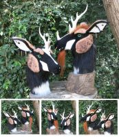 Jungle Kirin heads - Male is FOR SALE by LilleahWest