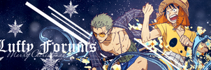 Luffy Forums Christmas Banner (Dark theme) by armagaten