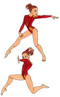 Gymnast girl by insectikette