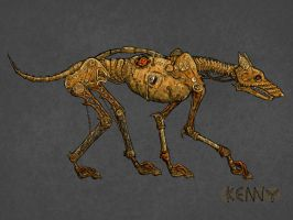 Steampunk dog by kennichka