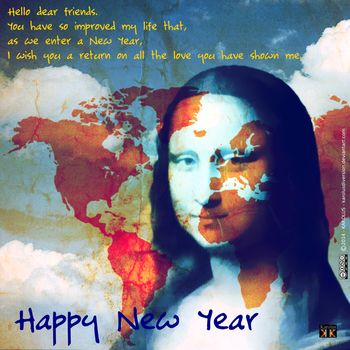 Nostradamus wishes Happy New Year by Karolusdiversion