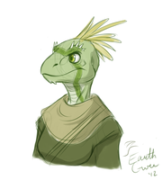 Argonian sketch by EarthGwee