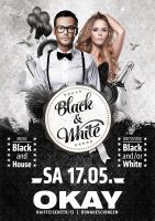 Eventflyer black and white by homeaffairs
