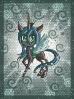 Chibi Chrysalis pony by raptor007