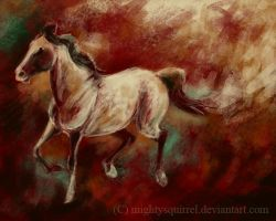 speed paint red horse by MightySquirrel