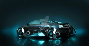 tron fan concept car by matthewwashdc07