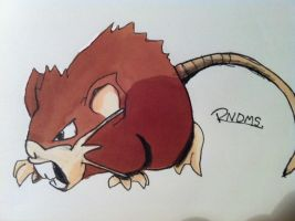 Kanto no. 020 Raticate by Randomous