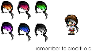 _custom hair pack (celebrating a new acc LOL) by Iiterature