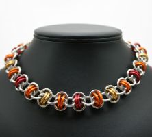 Fiery Barrels Necklace by Utopia-Armoury