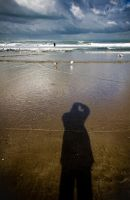 My shadow and the sea by Rob1962