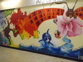biology mural complete by colourblindxx
