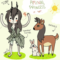 AT OC: Aminal Princess. by Fishteeth