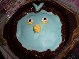 Angry Bird Cake by AkilajoGraphic