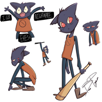 Night In The Woods Doodles by Br00kie-Draws