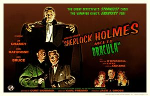 Sherlock Holmes Meets Dracula movie poster by PaulBaack