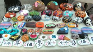 Misc. Painted Rocks 1 by Nevuela