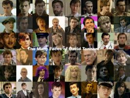 Many Faces of David Tennant by pfeifhuhn