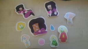 STEVEN UNIVERSE HAND MADE STICKERS ! by Kisara16