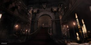 Thief - Baron Mansion Central Stairs by MatLatArt
