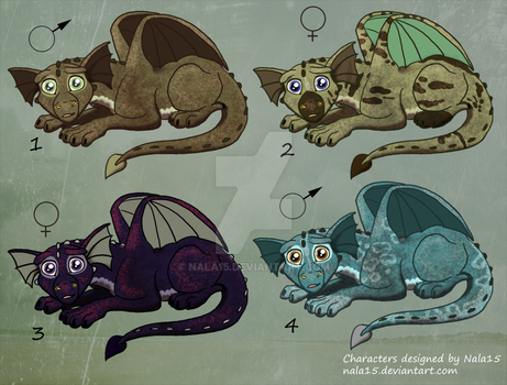 Little Dragons 3 - Adopts - OPEN - 2 left by Nala15