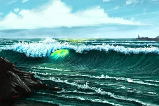 Ocean Wave by xray360