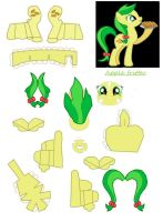 apple fritter papercraft by DryRouteToDevon