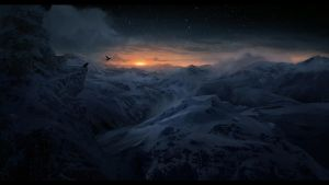 Sunrise Mountains by Lapec