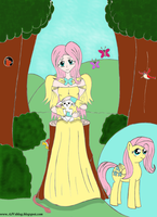 MLP: Fluttershy (Human Version) by AJV7