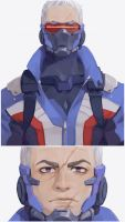 [Overwatch] Soldier76 by paexiedust