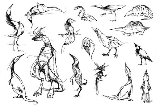 Pointy Creature Designs by yolque