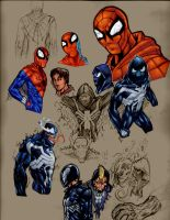 Spidey concept designs by HIIVolt-07