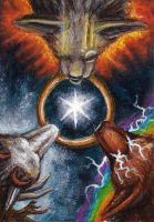 ACEO - Power of Three by LuxDani