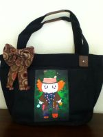 Black Mad Hatter Bag by PandoraLuv