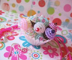 Beaded Cupcake Charms 2 by MigotoChou