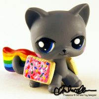 Nyan Cat Custom LPS by thatg33kgirl