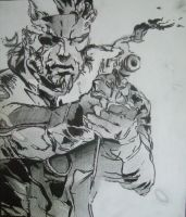 Metal Gear Solid 3 Drawing by PortraitPaulo