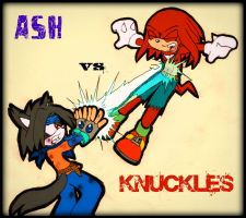 Ash Vs Knuckles by GreenBlood12354