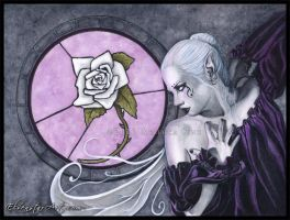 The White Rose by ElvenstarArt