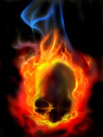 Flame Skull Study by FolkloreMcGrinme