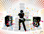 Inksplats Music Vector by Draftey