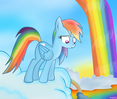 Rainbow Dash: clouds by Lelka-Philka