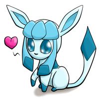 Glaceon (Chibi) by SpiriTofHearts