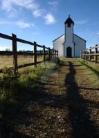 Morley Church, Southern AB by HerrHaller