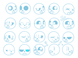 Sans (Emotion Sheet) by VeteranPegasister