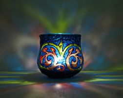Celtic votive candle by bellekaX